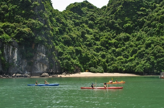 du khách với Vịnh Lan Hạ